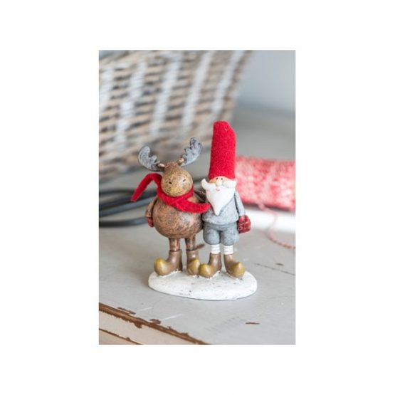 817-Christmas-Modern-Decorative-Reindeer-and-Santa-Claus-arm-in-arm-by-Ib-Laursen-11-cm1