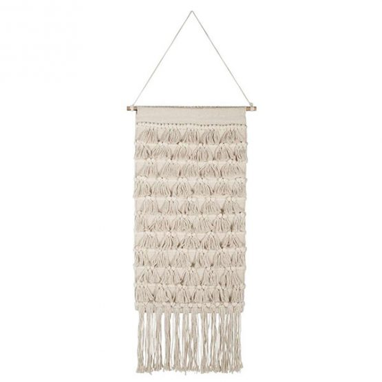844-Cream-Woven-Patterned-Hanging-Wall-Decor-with-Many-Fringes-by-Ib-Laursen