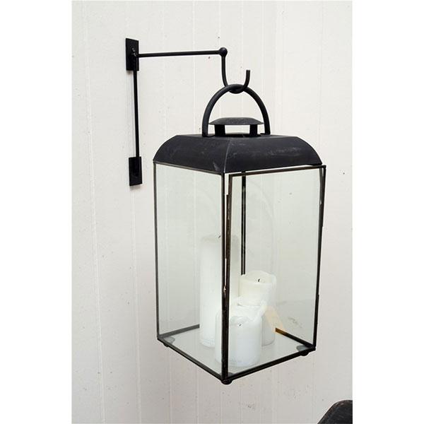 Wall Mounted Lamp Hook : Black Wall Hanger / Wall Mounted Lantern Hook by Ib Laursen