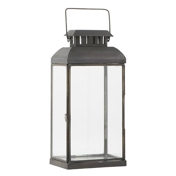 Large Glass Amp Metal Black Oblong Hanging Lantern Candle Holder