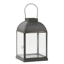 851-Glass-&-Metal-Black-Top-Curved-Hanging-Lantern-Romo