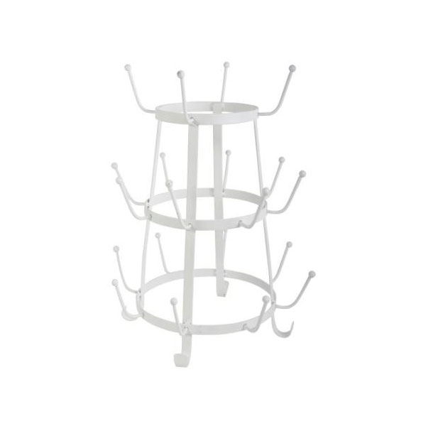 858-White-Rack-Holder-Organizer-for-Pots-Cups-with-20-Arms-by-Ib-Laursen