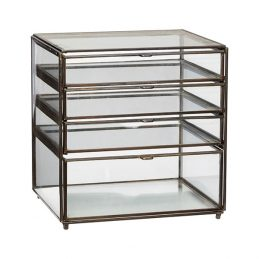 metal-and-glass-display-jewellery-trifle-boxes-wdrawers-danish-design