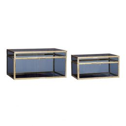 blue-glass-and-brass-display-box-for-jewellery-trifle-display-set-of-2-danish-design