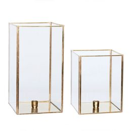 set-of-2-square-brass-glass-hurricane-candle-holder-danish-design-by-hubsch