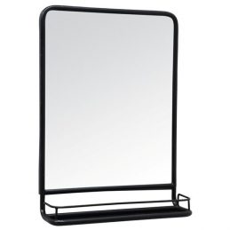 black-wall-hanging-mirror-with-mini-shelf-by-ib-laursen-70-cm
