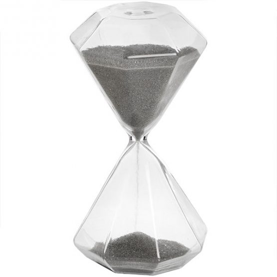 886-Transparent-with-Grey-Sand-Hexagonal-Glass-Timer-Hourglass-Sand-Timer-by-Hill-Interiors