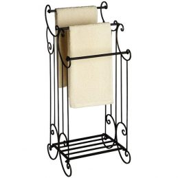 898-Black-Elaborate-Victorian-Free-Standing-Towel-Rail-by-Hill-Interiors