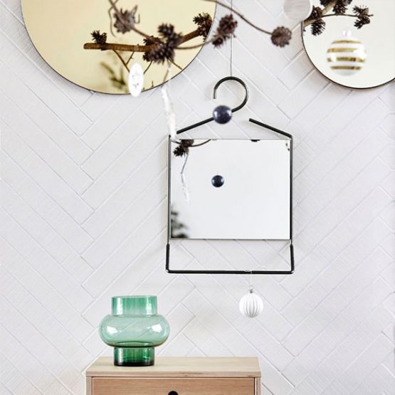 900-Coat-Hanger-Shaped-Black-Wall-Hanging-Mirror-with-Mini-Shelf-by-House-Doctor-50-cm1