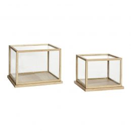 set-of-2-glass-display-oak-showcase-with-wooden-base-frame-low