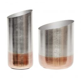 modern-set-of-2-silver-and-copper-vase-danish-design-by-hubsch