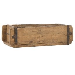 Natural Rustic Wood Single Brick Mould Storage Box by Ib Laursen
