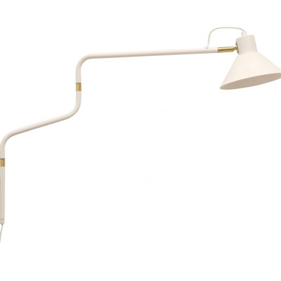 Wall Light Lamp White and Gold Danish Design by Hubsch