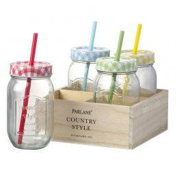 set-of-4-glass-bottles-with-straw-in-wooden-box-holder-carrier-by-parlane