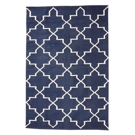 em-home-hubsch-blue-rug-geometric-white-pattern-large-500118