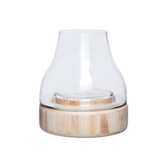 emhome-hubsch-lantern-glass-wooden-base-candle-pillar-460308