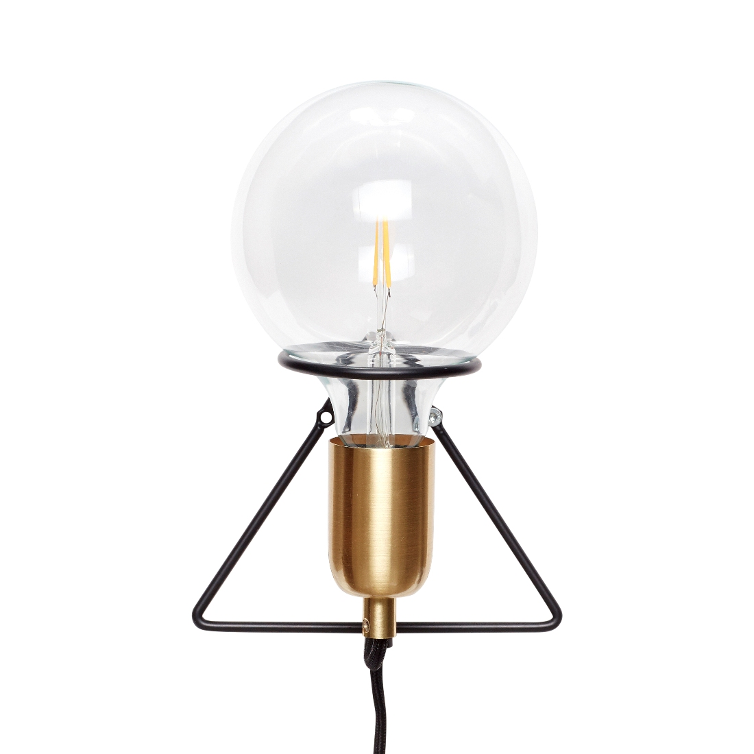 Danish Design Wall Lamps : Industrial Metal Black & Brass Wall Lamp Danish Design by Hubsch