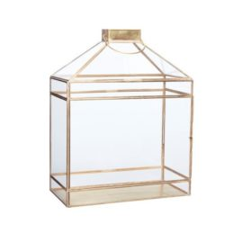 large-brass-glass-lantern-tealight-pillar-candle-holder-by-hubsch