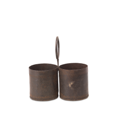 two-compartment-reclaimed-decorative-metal-dendi-storage-pots-by-nkuku