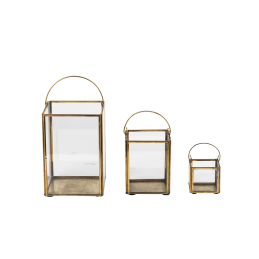 emhome-Nkuku-decor-lantern-home-antique-brass-glass-candle-holder-BL32 – WB