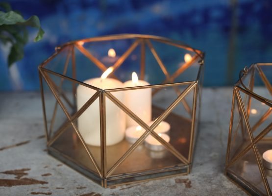 emhome-Nkuku-decor-lantern-home-antique-zinc-glass-candle-holder-NL05 – 3