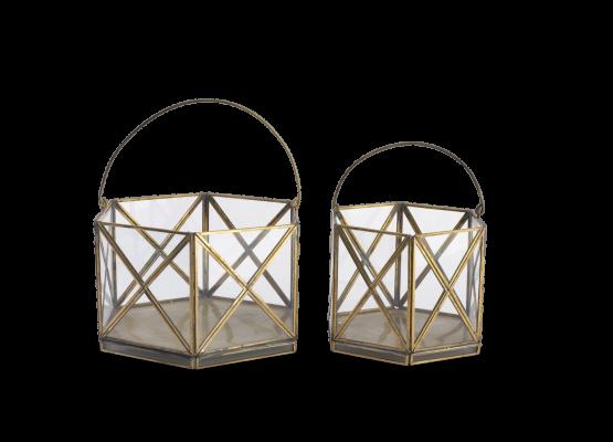 emhome-Nkuku-decor-lantern-home-antique-zinc-glass-candle-holder-NL05 – WB