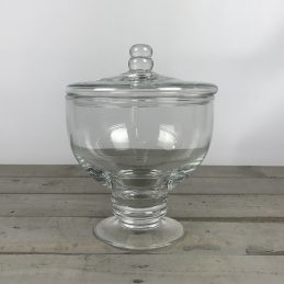 handmade-footed-glass-jar-cookie-sweet-bonbon-storage-jar-bowl-lid