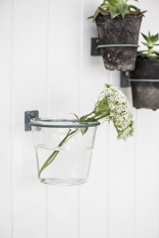 eM Home & Large Clear Glass Flower Pot Hannah Perfect for Rope Plant Holder by Ib Laursen