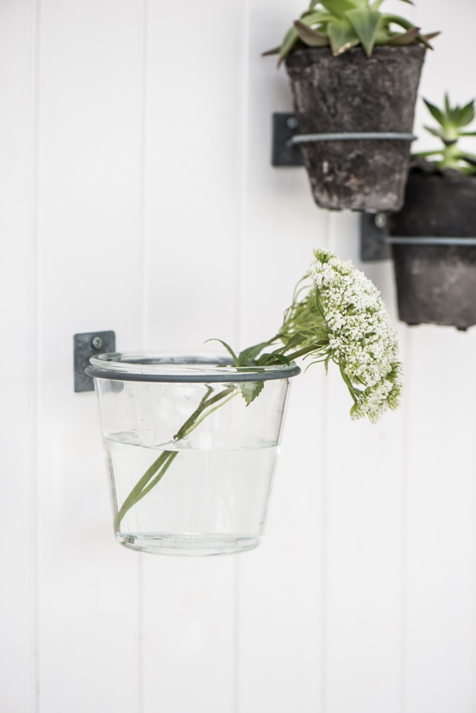Small Clear Glass Flower Pot Hannah Perfect For Rope Plant