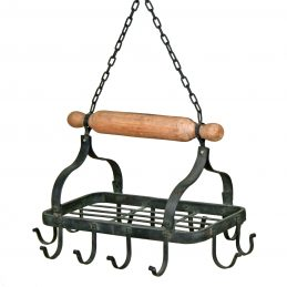 rectangular-black-hanging-kitchen-butchers-hook-pot-rack-holder