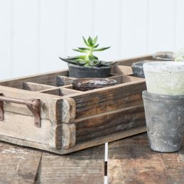 natural-rustic-wooden-storage-box-with-12-rooms-and-metal-handle-by-ib-laursen