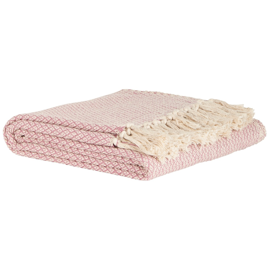 100 Cotton Sofa Bed Light Pink Cream Window Pattern Throw Blanket