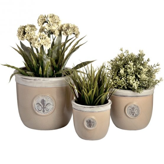 decorative-set-of-three-fleur-de-lys-ceramic-planters-by-hill-interiors