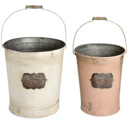 set-of-two-large-vintage-buckets-in-white-pink-by-hill-interiors
