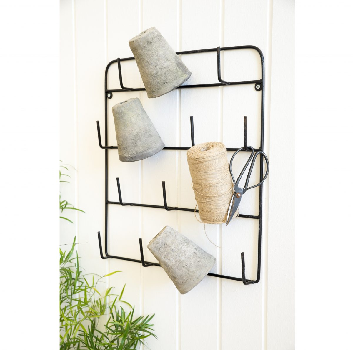 Wall Hanging Rack Organiser with 14 Hooks for Cups by Ib Laursen