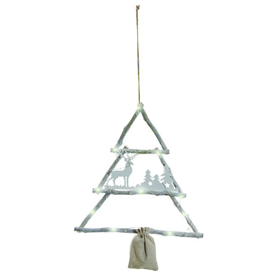 White Hanging Led Christmas Twig Tree By Tobs