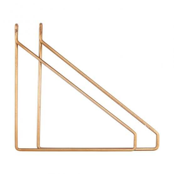 set-of-2-glossy-brass-shelf-brackets-supports-by-house-doctor