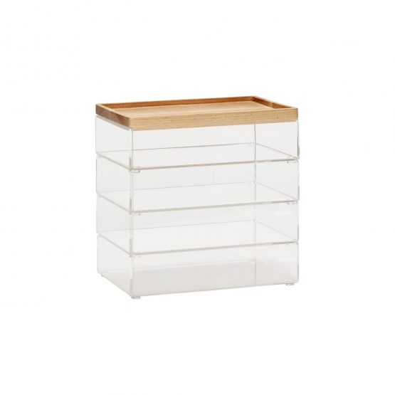 set-of-4-large-clear-acrylic-desk-organiser-boxes-with-wooden-lid-by-hubsch