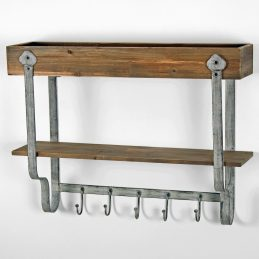 rustic-wall-trough-wooden-storage-shelf-with-5-metal-hooks