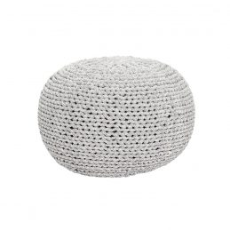 light-grey-with-weaving-cotton-round-pouf-by-hubsch
