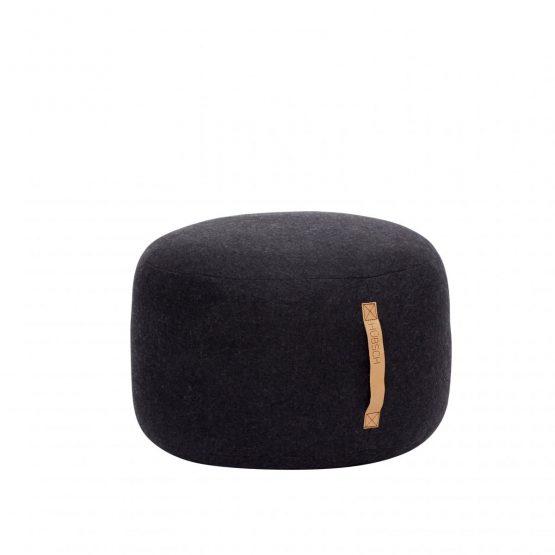 em_home-hubsch-round-black-wool-pouf-footrest-strap-home-decor-homeware-700503