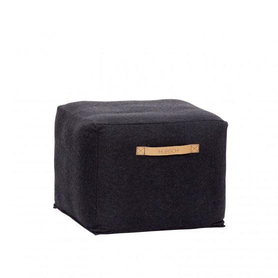em_home-hubsch-square-black-wool-pouf-footrest-strap-home-decor-homeware-700504