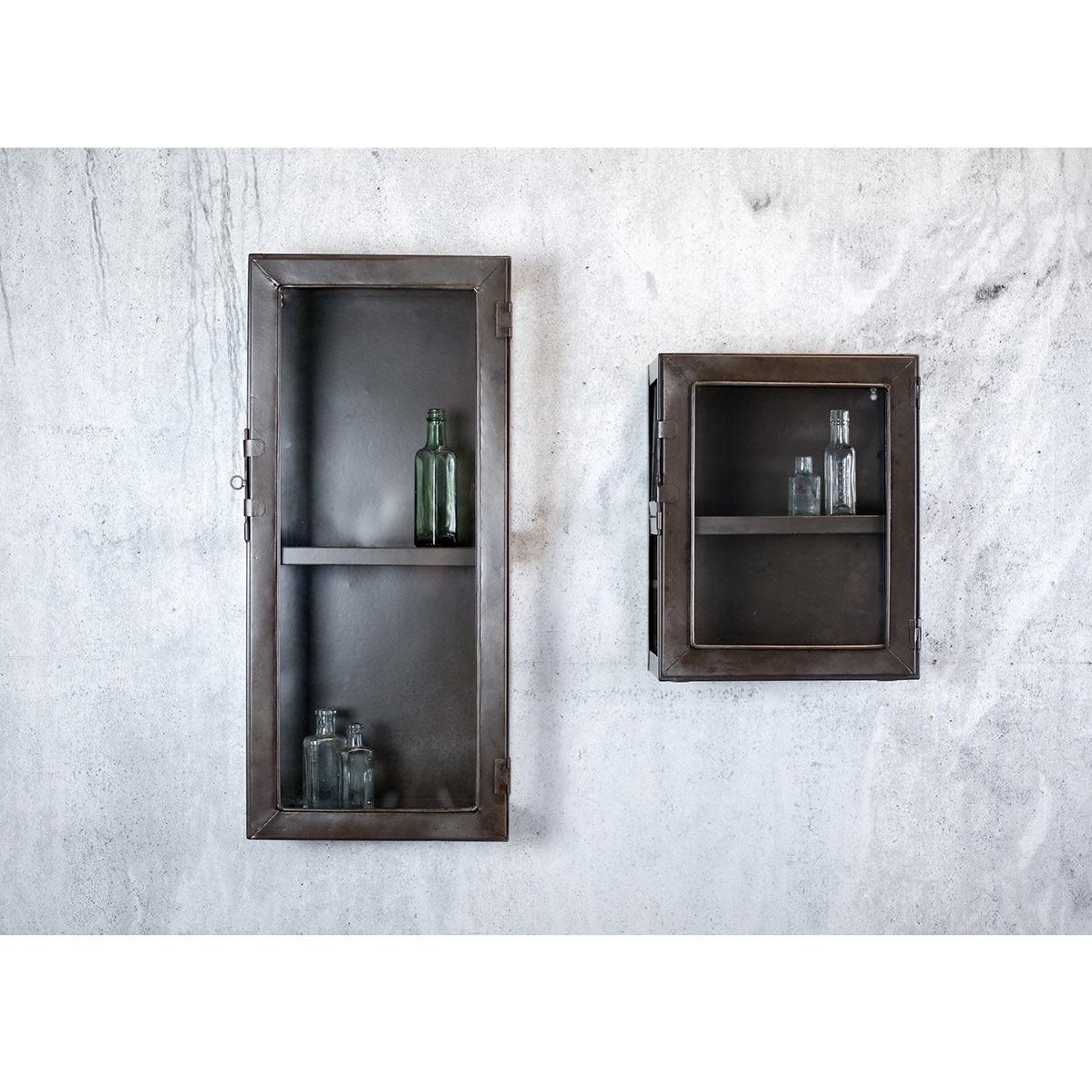Small Kisari Wall Hanging Storage Cabinet With Glass Door
