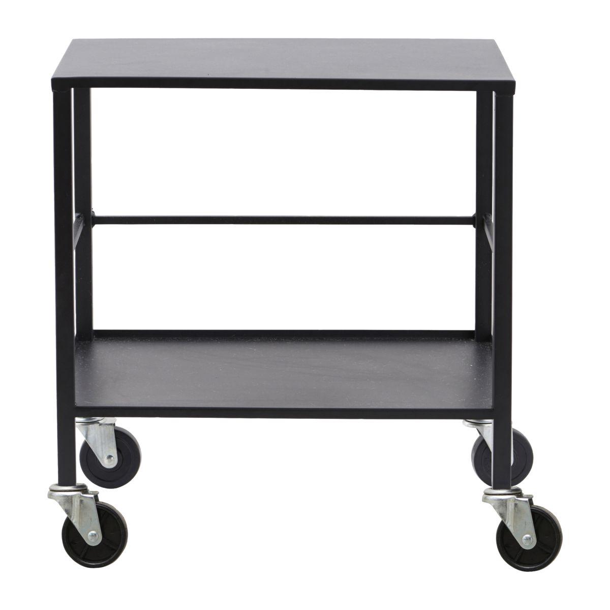 Black Medium Metal Office / Serving Trolley Bar Cart By House Doctor