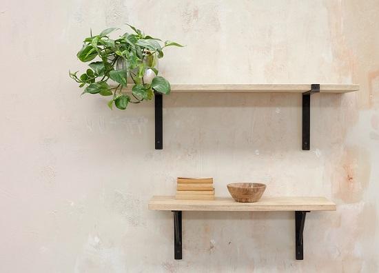 Batu Wall Shelf Solid Mango Wood Shelf Small 90 Cm By Nkuku