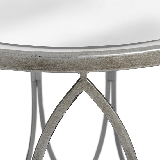Set Of Two Silver Side Tables With Copper Stud By Hill Interiors