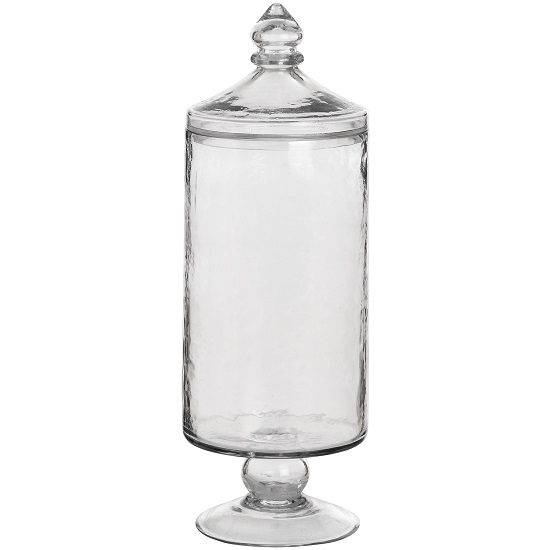 vintage-hammered-glass-jar-on-high-foot-tall-36cm-by-hill-interiors