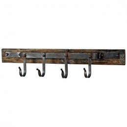 rustic-wall-mounted-butchers-hooks-on-plaque-wooden