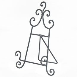 cook-recipe-book-metal-easel-stand-finished-antique-grey