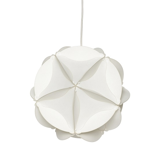 small white diffuser shade with lamp ceiling drum retro